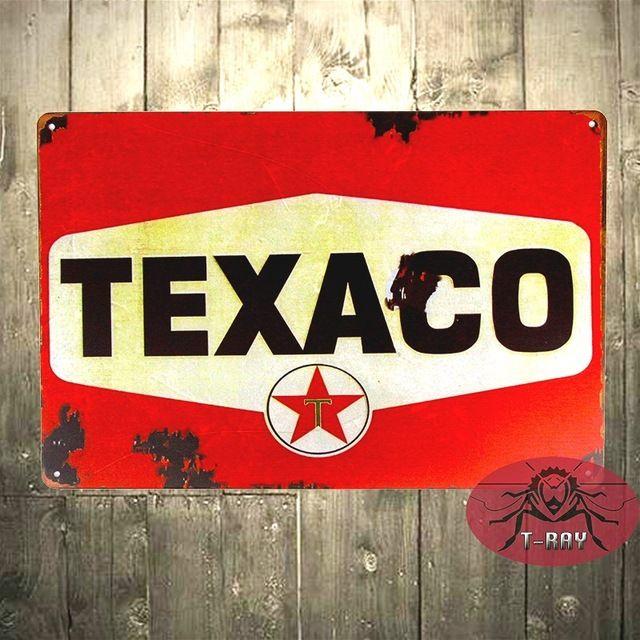 ОЛОВО ВОЙТИ Texaco Красный Ржавчины Нефти Азс Автосервис Авто Магазин Гараж