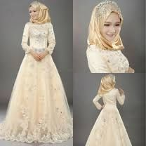 Image result for simple wedding dress for muslim bride