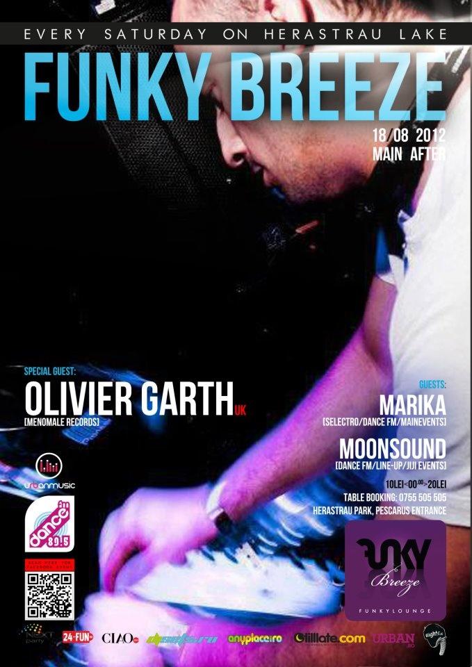 Olivier Garth, Marika & Moonsound - Sat 18/08 @ Funky Breeze Herastrau