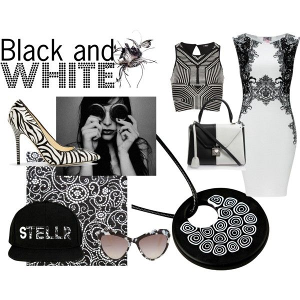 """""""It's Black and White"""" by mymagnifico.com on Polyvore"""