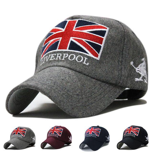 Sombrero moda populares inglaterra gorra de béisbol del Snapback marcas algodón Caps moto hombres mujeres Casual negro azul gris rojo azul