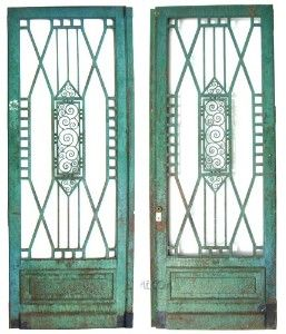 deco iron | grand art deco iron entry doors - pair with matching railing | Shop ...