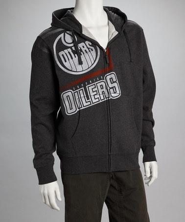 $38.99 ~ Black Edmonton Oilers Zip-Up Hoodie - Men by Viral ~ many teams