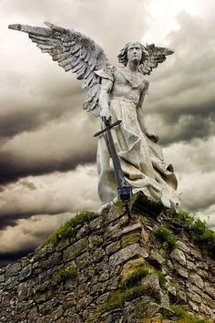 """""""For He will give His angels charge concerning you to guard you in all your ways."""" - Psalm 91:4 - Statue of Michael the Protector"""