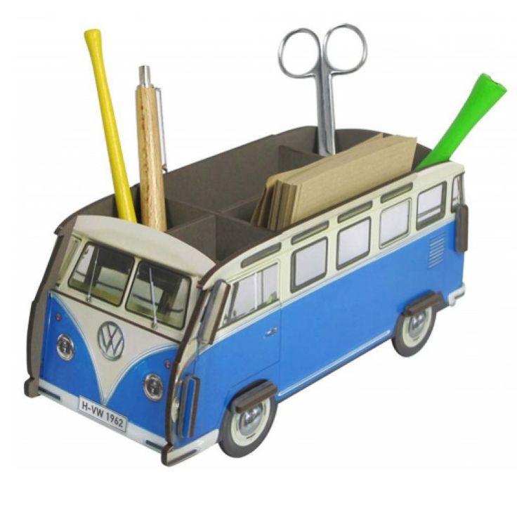 Je pennen helemaal in stijl op je buro met deze retro pennenbak.   Diverse > Webshop Retro bus pennenbakje | Verwende Apen