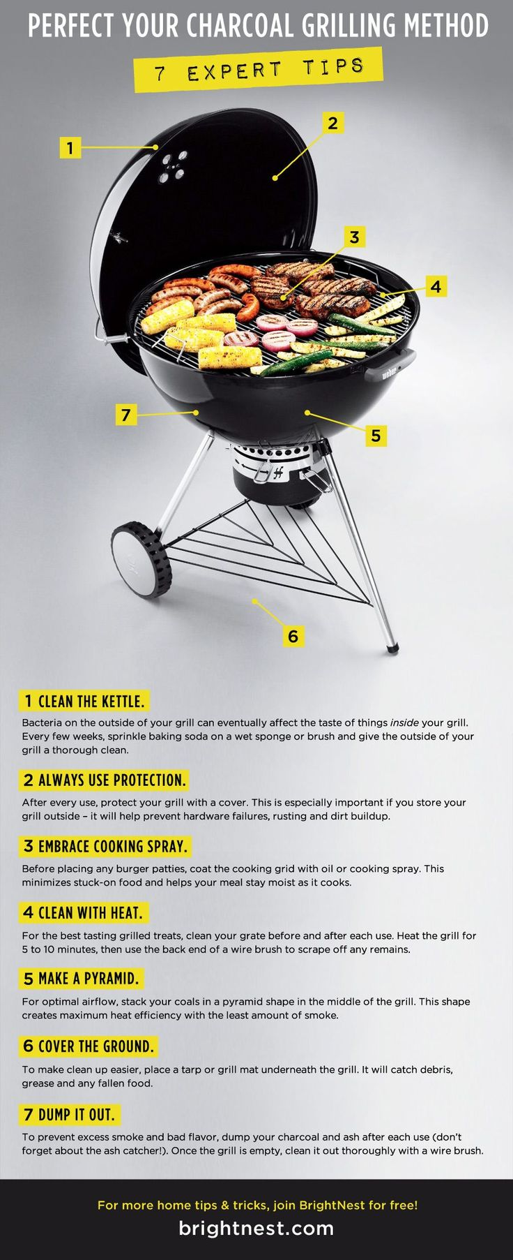 Perfect Your Charcoal Grilling Method: 7 Expert Tips #infographic