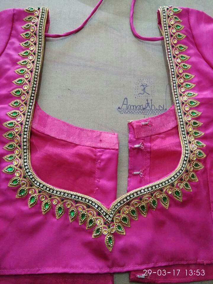 472 Best Embroidery Blouse Images On Pinterest | Blouse Patterns Blouse Designs And Embroidery