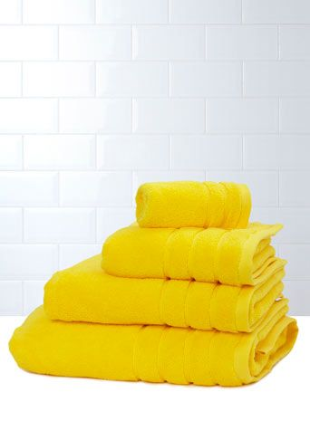 Definitely Using These As The Accent Colour In The Bathroom   Yellow  Ultimate Towel Range