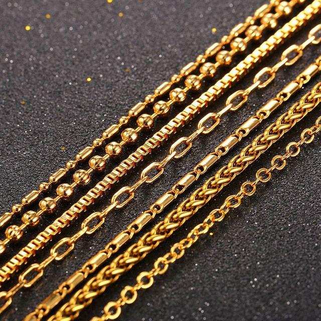 a4b4f8dbe67b6 Starlord Hot Chain Necklace Men Wholesale 55CM White Gold Color Box ...