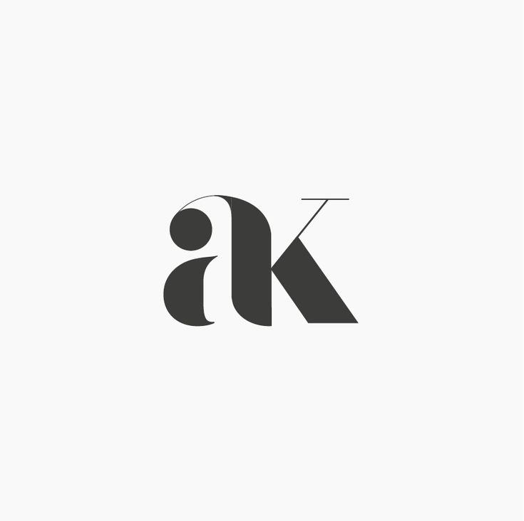 Design by http://ottocliman.it AK, Monogram, logo, design, graphic, letter, typography, ak logo, experiment, simple, minimal, design, brand, idea, mark, symbol, logotype, logogram, a, k, elegant, classy, classic, fashion, style, vintage