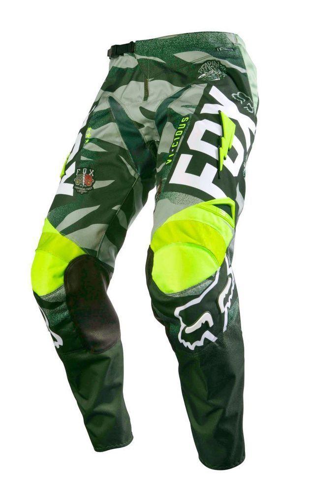 Fox Racing NEW 2016 Mx Gear 180 Vicious Army Green BMX Motocross Dirt Bike Pants