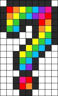 Rainbow Question Perler Bead Pattern / Bead Sprite