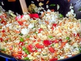 Rachel Ray's Special Fried Rice we love fried rice and it is a great way to use up the leftovers:)