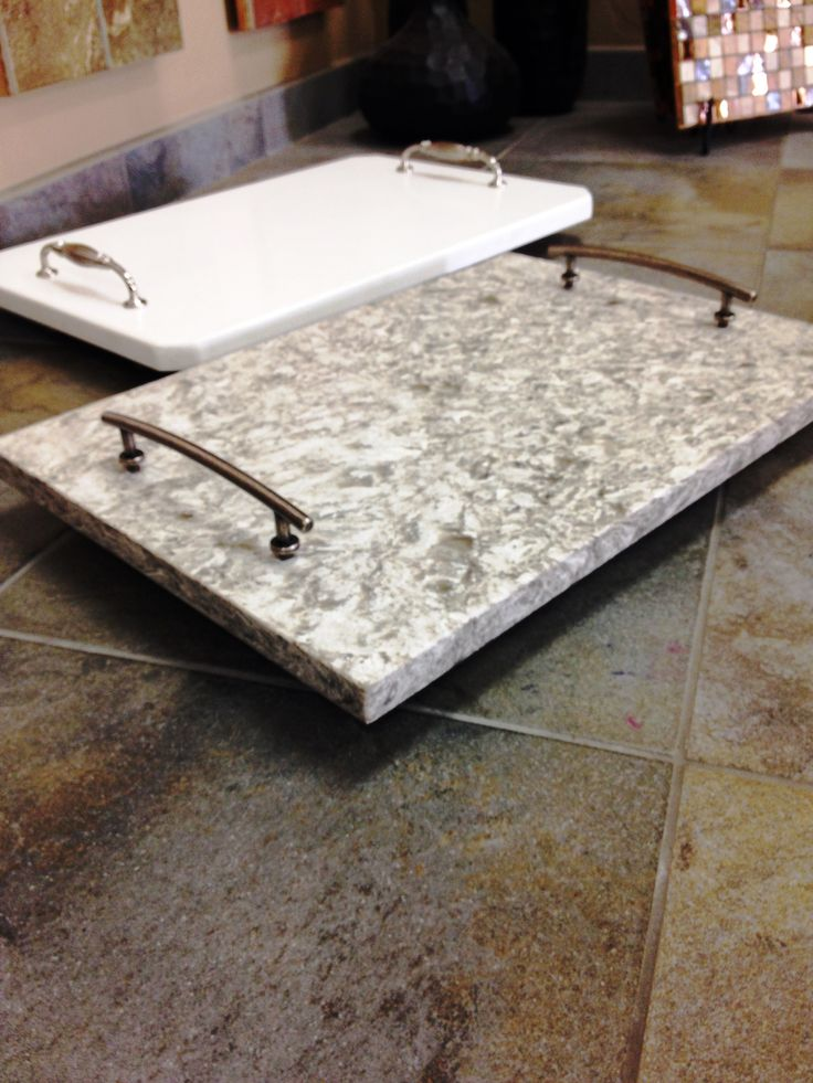 Granite platter has many uses; spice tray, perfume & lotion on your vanity, elegant wine & cheese platter...the uses are endless!
