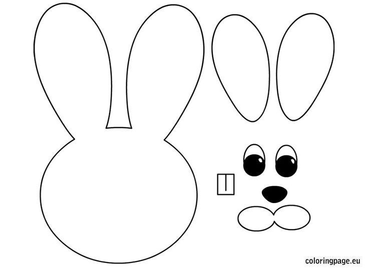 Bunny Coloring Pages Egg Colouring Easter