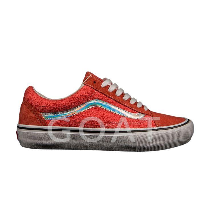 Supreme x Old Skool Pro Iridescent 'Coral' - Vans - VN000ZD4JHZ - Coral/Coral | GOAT