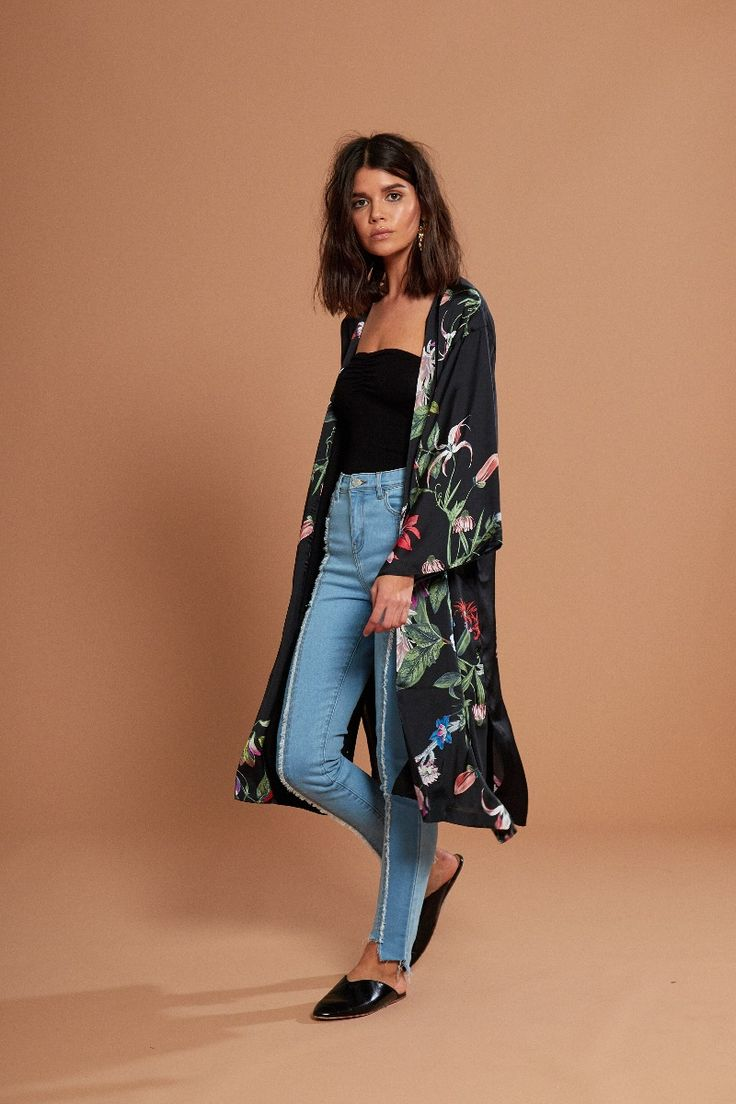 Women's Wildflower Kimono   Jackets   Neon Rose