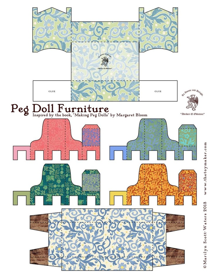 Printable peg doll furniture diy spielzeug toys for Selfmade wohnideen
