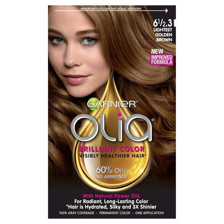 garnier olia brilliant color 6 12 3 lightest golden brown 6 1 - Coloration Olia Blond