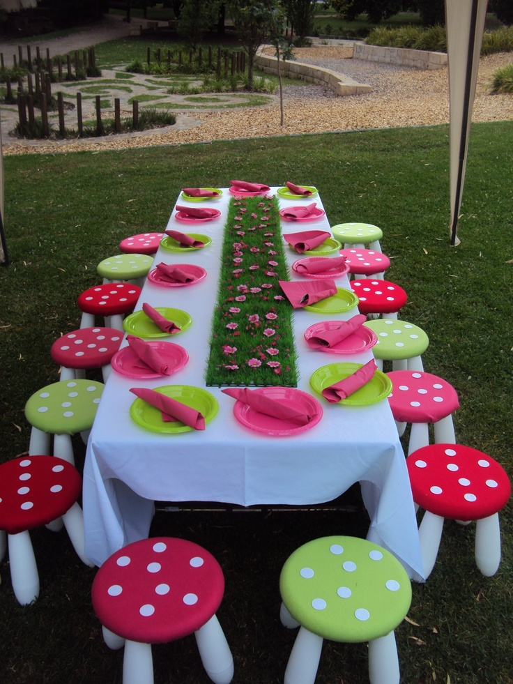 Fairy party table