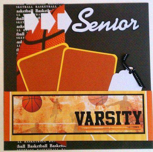 Sports Scrapbook Layouts | Basketball*Senior*Sports*Varsity*premade scrapbook la…