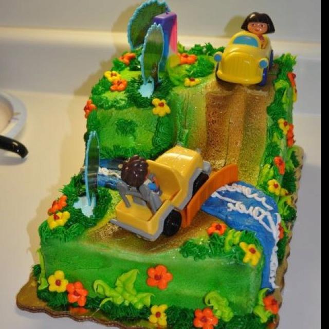 Dora and Diego Safari birthday cake from Publix random