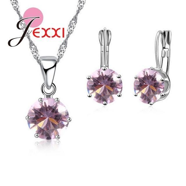 Cross - 925 Sterling Silver Crystal Earrings/Gift Box nxj04TgMu8