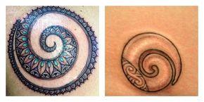 Tatuaggio Koru con significato di Rinascita