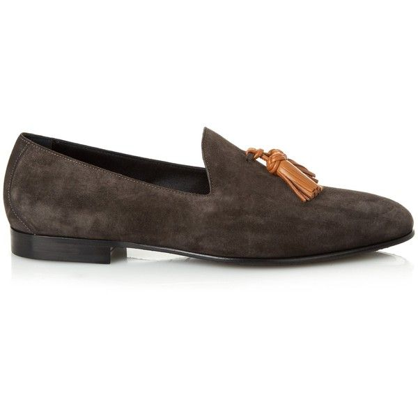 Burberry Prorsum Lewis suede loafers (17.905 RUB) ❤ liked on Polyvore featuring men's fashion, men's shoes, men's loafers, grey, shoes, mens gray dress shoes, mens loafer shoes, burberry mens shoes, mens gray suede shoes and mens suede shoes