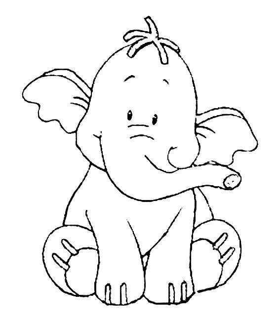 Kleurplaat lollifant olifant