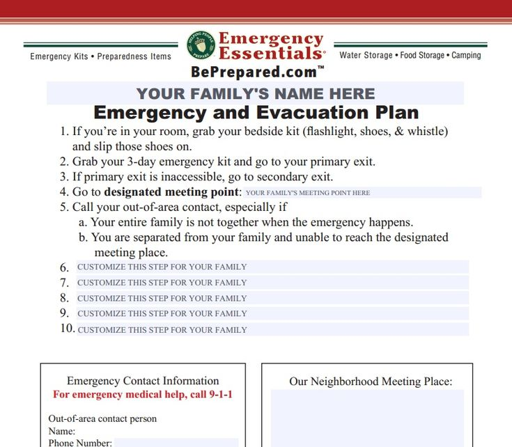 73 best EMERGENCY FAMILY PLAN images on Pinterest Disaster - emergency action plan sample