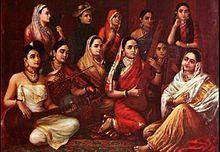 India - Wikipedia, la enciclopedia libre es.wikipedia.org220 × 152Buscar por imagen En esta pintura hecha por Raya Ravi Varma (1848-1906), se presentan varios tipos de saris, ropa tradicional de la India.  PINTORES HINDUES - Buscar con Google