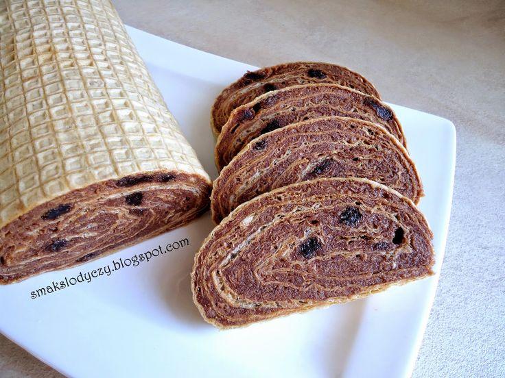 Smak Słodyczy: rolada z wafli