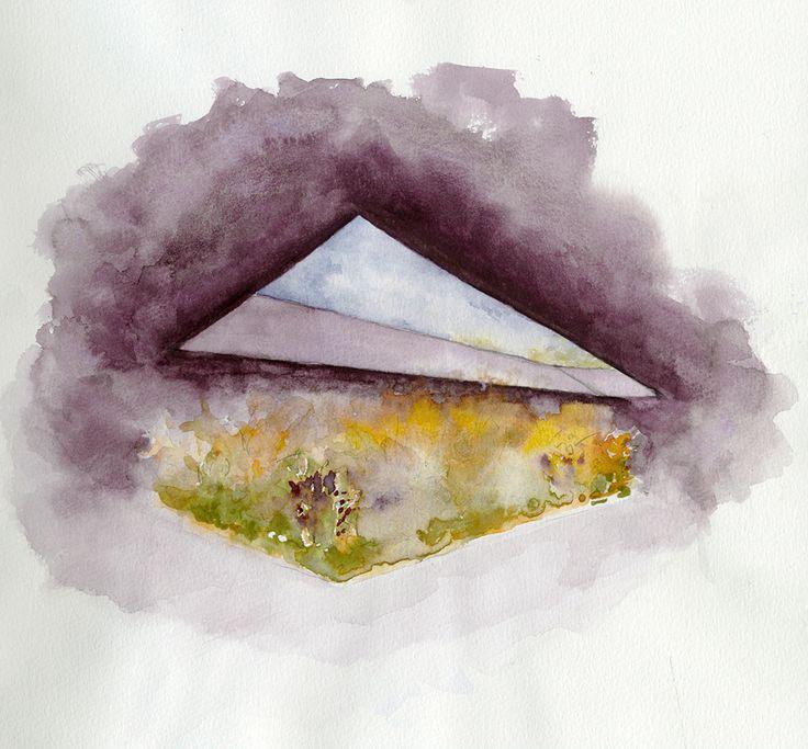 Peter Zumthor, Serpentine Gallery Pavilion garden, 2011. Watercolor.