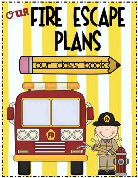 Fire Safety - Escape Plan Class Book: Talk about fire safety and