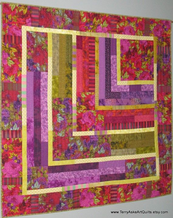 Beautiful crisp clear lines in this very modern quilt