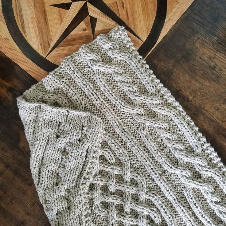 Olivia Cable Knit Blanket