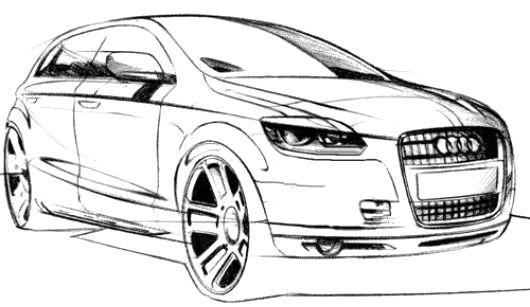 audi car q4 coloring page