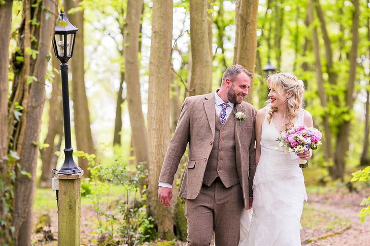 Bride Chloe wears a Cymbeline gown for her Spring wedding  at Swallow's Oast in Sussex. Photography by Rachael Edwards.
