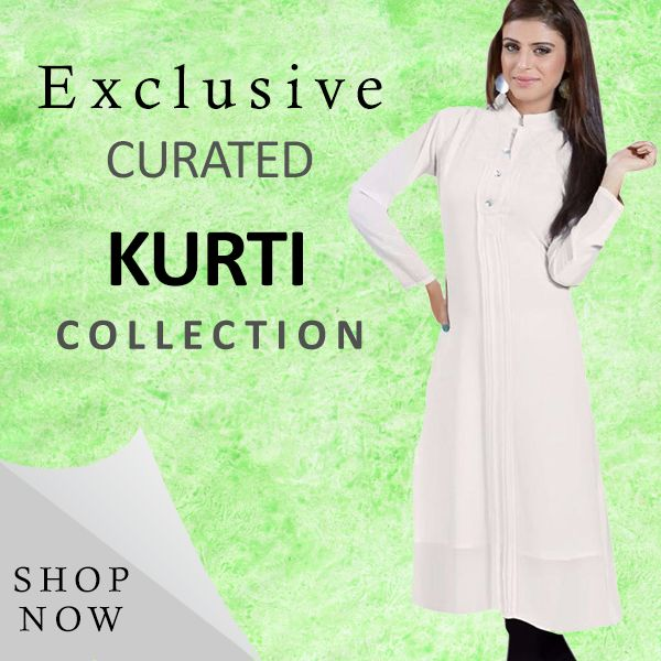 FANCY LOOK FOR WOMEN WITH WHITE LONG KURTI. UP TO 50% OFF ONLY Rs.589 BUY NOW !!!