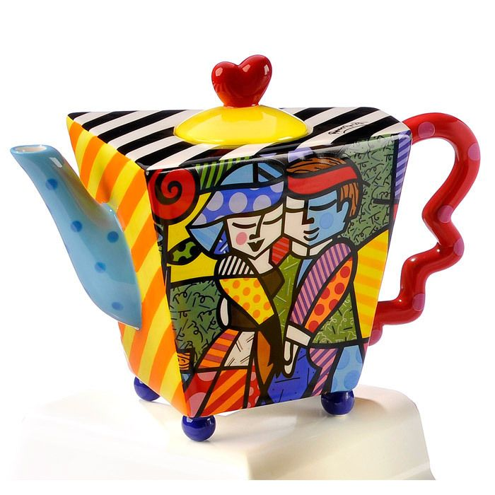 Romero Britto: Ceramic Teapot, Couple Dance, Large Teapots, Artists Teapots, Romero Britto, Dance Teapots, Teas Pot, Artsi Teapots, Collection Teapots