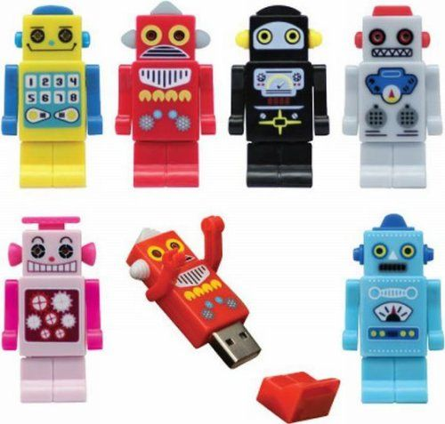 Robot USB flash drives with personality
