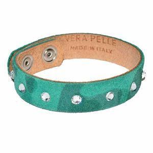 Bracciale pelle verde by Valery Design Bijoux