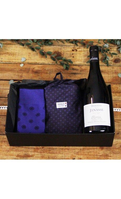 Caleçon et Chaussettes Made In France Mode Homme Motif Capsules de Champagne Bouteille - Idee cadeau de noel pour homme 2017 vin, restaurant, gastronomie, gourmand, style : motif, à pois, bleu marine