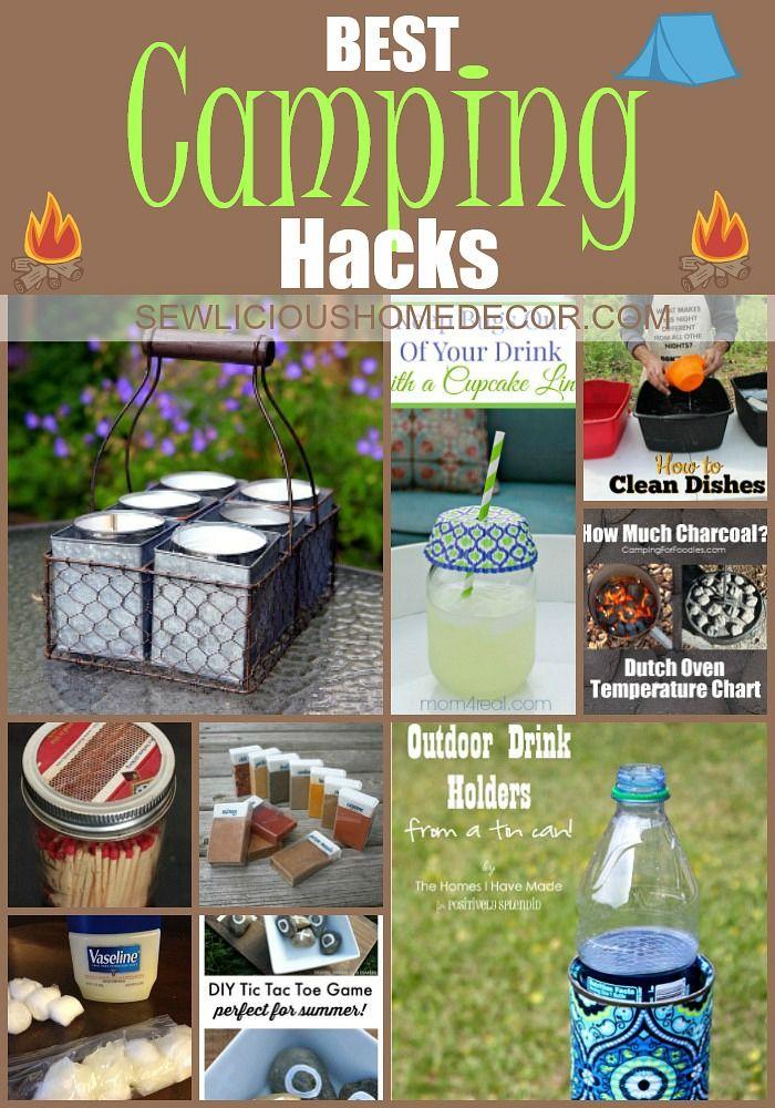 Best DIY Camping Hacks at sewlicioushomedecor.com