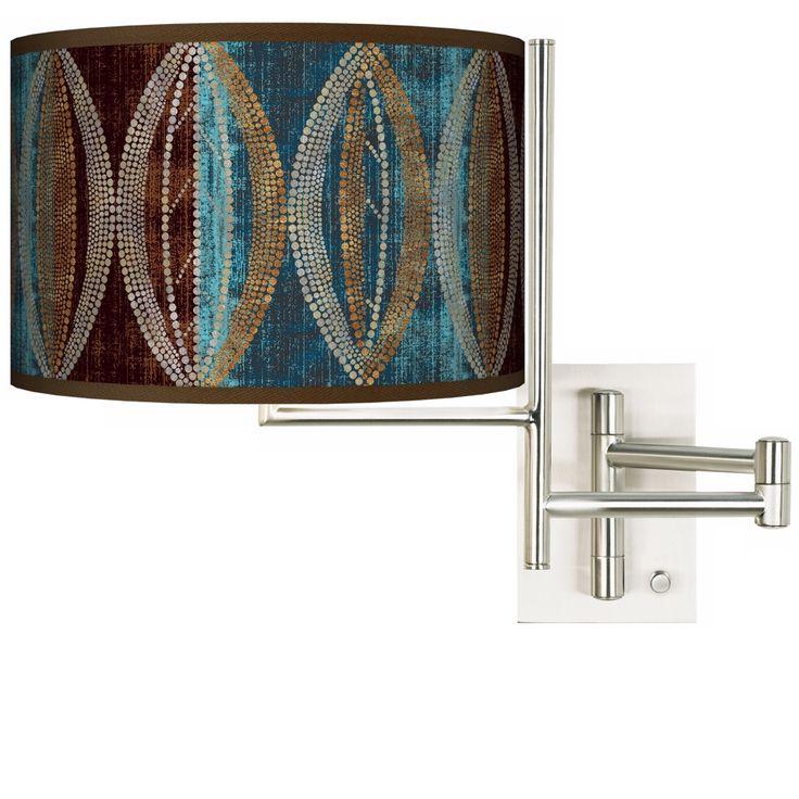 Stacy Garcia Pearl Leaf Peacock Plug-in Swing Arm Wall Light - Style # K1148-N8096
