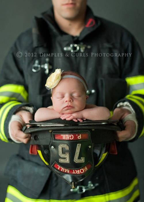 FIREFIGHTER!!!!!!!!                    Newborn Photographer | Baby Picture  Dimples and Curls Photography by Christine Bryk @Sally Pine Gautier what about this?!