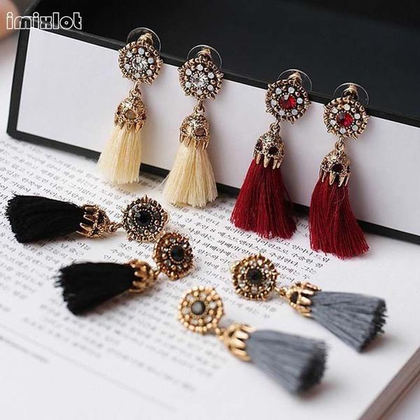 Limited Round Orecchini Earings Brincos Women Thread Long Tassel Earrings