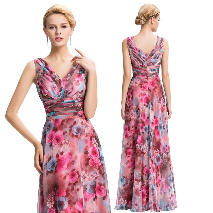 Vintage Long Bridesmaid Homecoming Evening Ball Gown Party Formal Prom Dresses