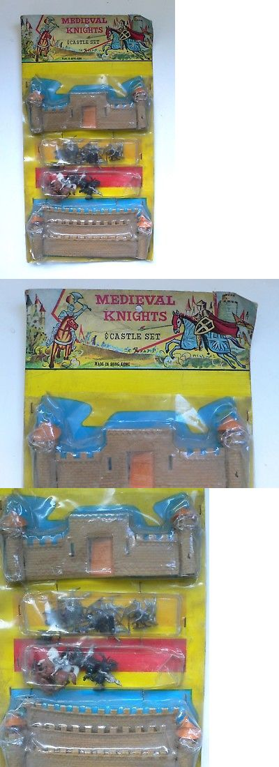 Pre-1970 734: Vintage Ho Scale Small Soldiers Toy Medieval Knights And Castle Set Moc 1960 S -> BUY IT NOW ONLY: $40 on eBay!